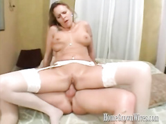 Busty babe Layla Chambers riding huge cock hard