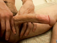 Perverse straight stud Shank plays with his snake