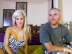Hot latina blonde babe wants hardcore pussy fuck