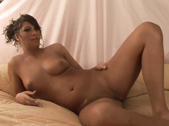 Fabulous Latina nextdoor hottie showing wet pussy
