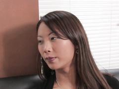 Asian little hottie gets her first lesbian fucking