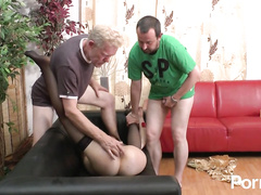 Naughty amateur MILF tried with old and young cocks