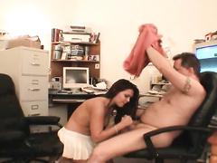 Shocking POV blowjob with nice slut Vanessa Lynn