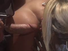 Hot Sci Fi Fuck! Jessica Drake and Kaylani Lei in a Lab with a Scientist! Hot FFM Threeway!