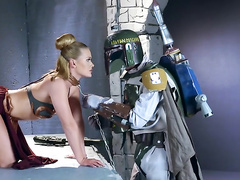 Space soldier dominates over princess Abby Cross in various XXX ways