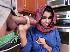 Flirtatious Arab girl Ada Sanchez chooses to be nailed in mouth