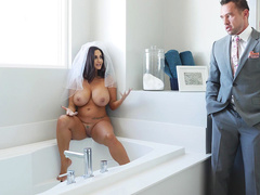 Groom's friend catches mom Ava Addams with huge tits masturbating