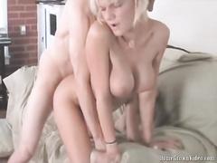 Hot Blonde Daisy sucking a fat long cock