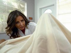 Nurse Helena Price is sucking the gargantuan cock