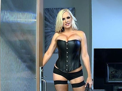Dominatrix Alena Croft has fun with strangers while hubby is at work