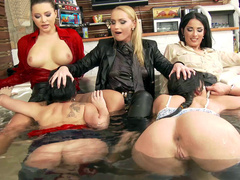 Anissa Kate invited girlfriends to jacuzzi to make XXX dream come true