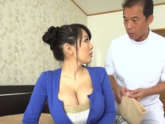 Despite her small frame this Japan vixen has enormous juicy breasts