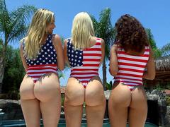 Cheating fuck Anikka Albrite invited Mia Malkova and Gabriella Ford to shake booties