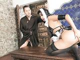 Brazen nun Yudi Pineda sheds habit to reveal sexy lingerie & saggy tits