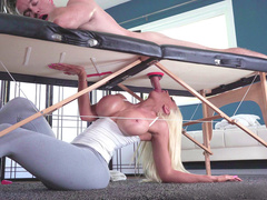 Spicy mom Nicolette Shea keenly gives blowjob to athletic client