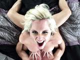 Blonde sexy mom Alena Croft bounces on his rod