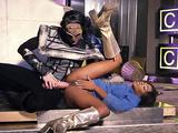 Kiki Minaj in sexy boots gets ass fucked in spoon