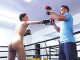 Ebony teen Amethyst Banks training in the boxing ring