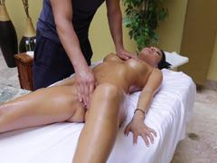 Massaging a hot Asian babe Asa Akira