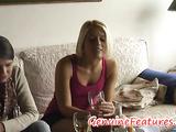 Horny beauty Sandra gives hard deepthroat blowjob