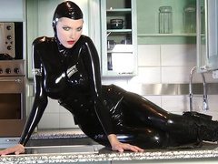 Awesome latex whore wants you to hard cum with her