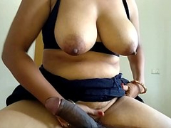 Mom Riding Son Big Black Cock In Reverse Cowgirl Position