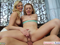 Lovely Lexi Belle and Mia Malkova tag team hard cock