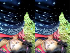 Indian Wife Boob Pressing and Blowjob