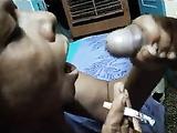 Desi Randi Bhabhi Smoking Cigarette and Sucking Cock