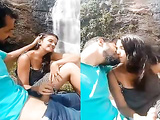 Today Exclusive-Sexy Desi Lover Kissing and Outdoor handjob