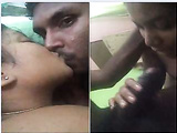 Today Exclusive- Sexy Clg Lover Kissing and Gf Give Nice blowjob To Hubby