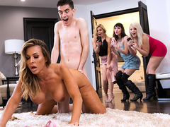 Boy silently agrees to follow stepmom to bedroom for XXX entertainment