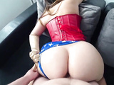 WONDER WOMAN WITH A BIG AND JUICY ASS FUCKS